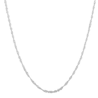 Pori Italian Sterling Silver Singapore Chain Necklace