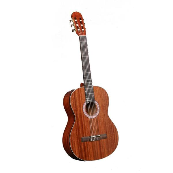 Pyle PGA33LBR 6-String Lefty Acoustic Electric Full Scale Guitar (Accessory Kit Included)