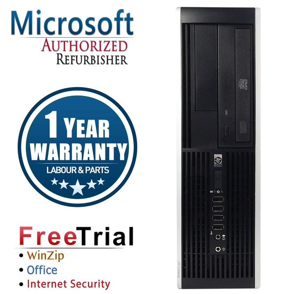 Refurbished HP Compaq 6000 Pro SFF DC E6600 3.0G 8G DDR3 320G DVD Win 10 Pro 1 Year Warranty - Black