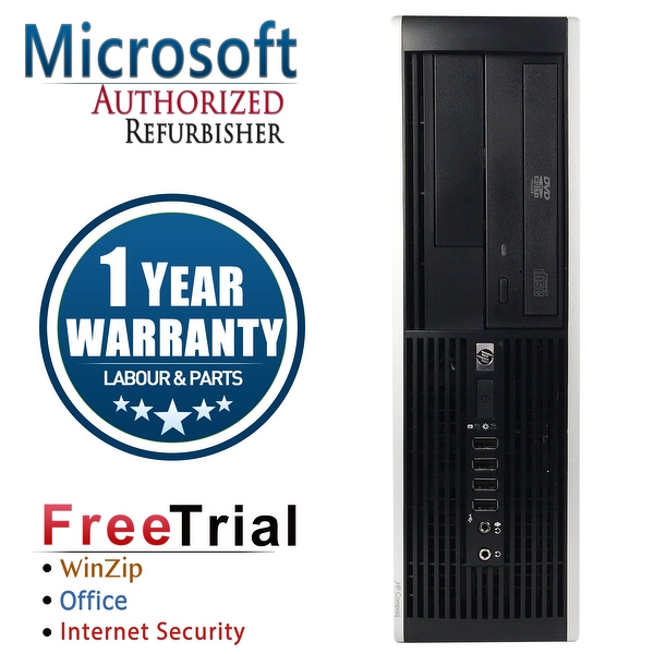 Refurbished HP Compaq 8200 Elite SFF Intel Core I7 2600 3.4G 8G DDR3 2TB DVDRW Win 7 Pro 64 1 Year Warranty - Black
