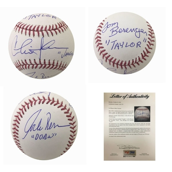 Major League Autographed MLB Signed Baseball Sheen Indians Movie PSA DNA COA 1