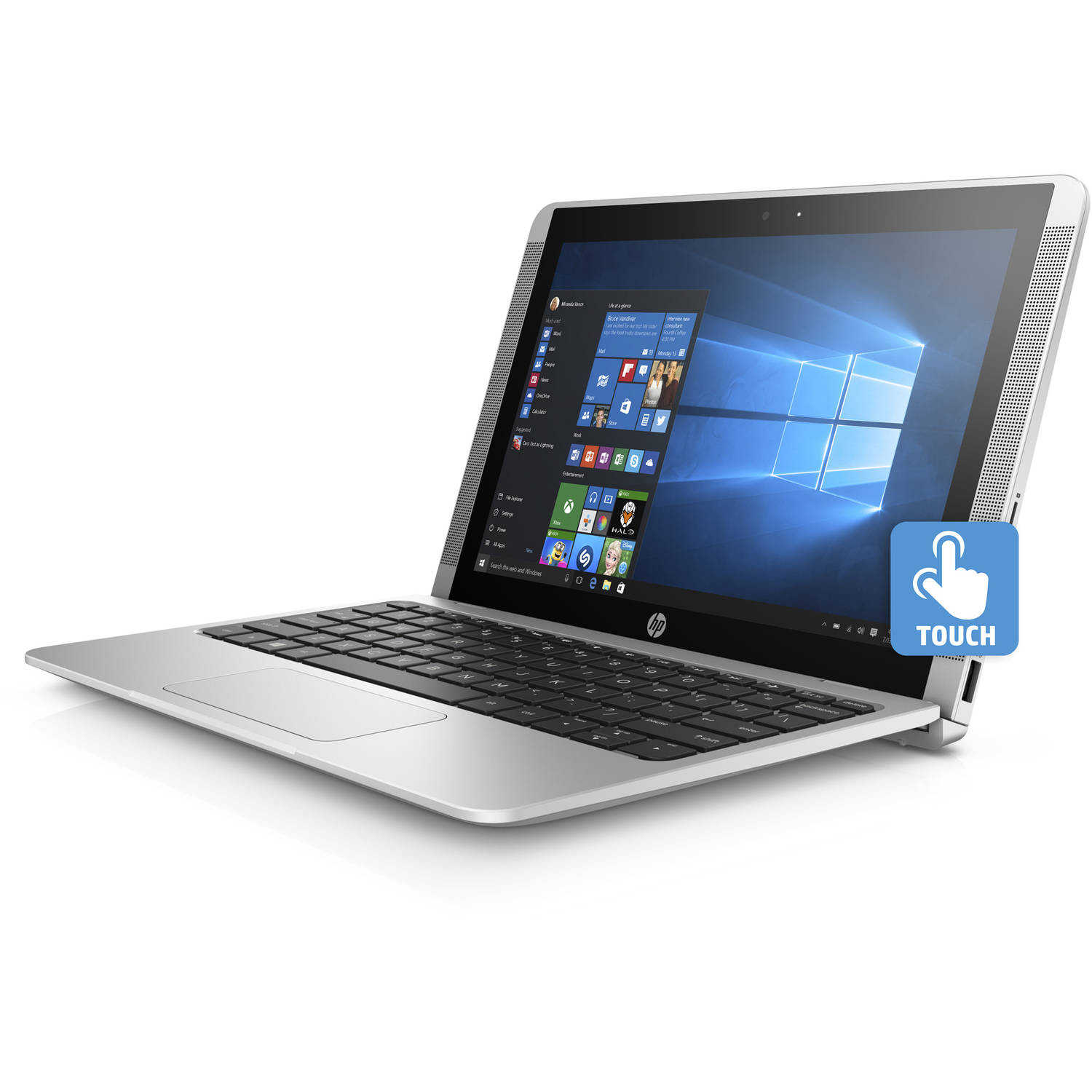 HP x2 10-p020nr 10.1' Laptop, Touchscreen, 2-in-1, Windows 10 Home, Intel Atom x5-Z8350 Processor, 2GB RAM, 32GB eMMC Drive