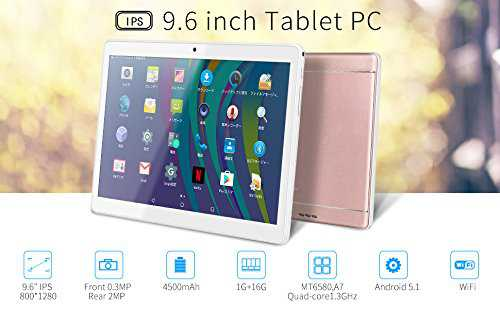 K98 9.6 Inch A7 MT6580,1.3Ghz Quad Core Google Android 5.1 Tablet PC,1G+16G,HD 800x1280,Dual Camera,4500MAh Battery,WiFi,GPS,G-Sensor,Support SD/MMC/TF Card (Rosegold)
