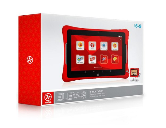 nabi Elev-8 8 inch 32GB Kids Tablet Red NBX208H00004US - Refurbished