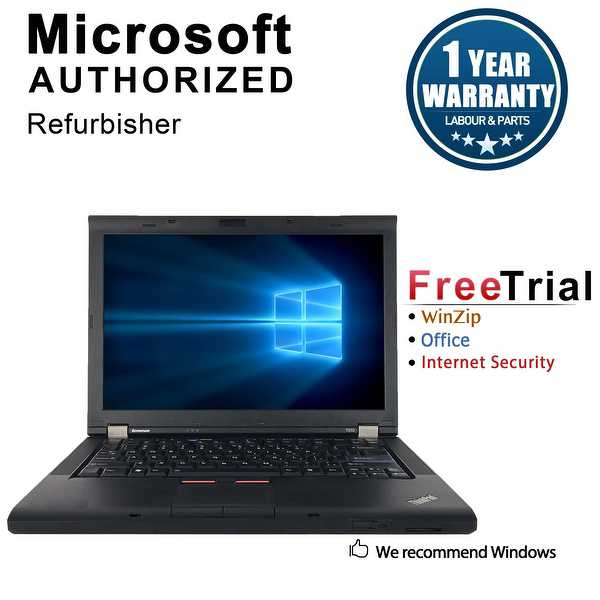 Refurbished Lenovo ThinkPad T410 14.1' Laptop Intel Core I5 520M 2.4G 4G DDR3 160G DVDRW Win 10 Professional 64 1 Year Warranty