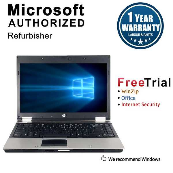 Refurbished HP EliteBook 8440P 14' Laptop Intel Core i5-520M 2.4G 4G DDR3 500G DVD Win 10 Pro 1 Year Warranty - Silver